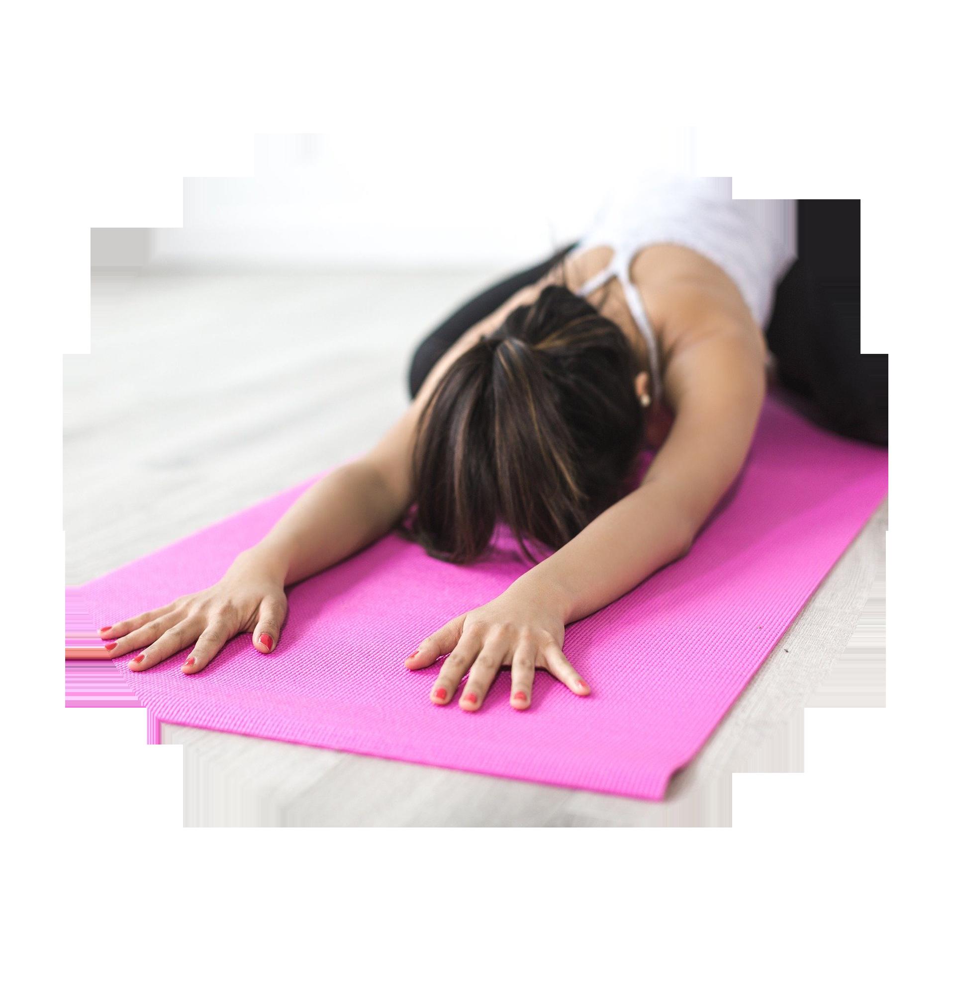 femme allongée sur tapis fitness